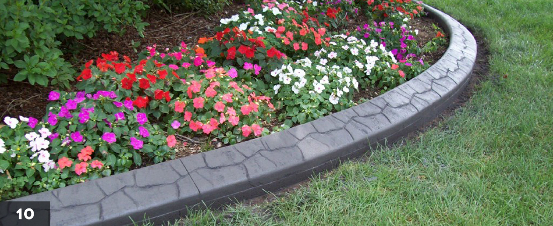 Cement border edging concrete garden border edging mold for Alternative garden edging