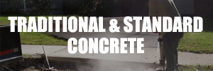 Traditional and standard concrete white