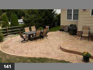 Stamped Concrete backyard patio-141