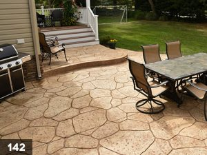 Stamped Concrete backyard patio-142