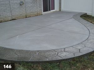 Stamped Concrete backyard slab-146