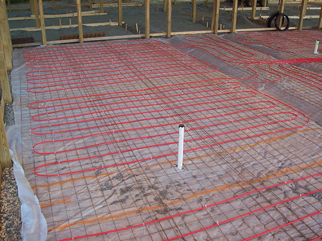 Horse Stable Radiant Floor Before