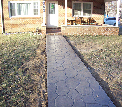 Cape St. Claire Cobblestone Walkway Front Yard After