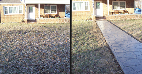 Cobblestone Walkway Before & After