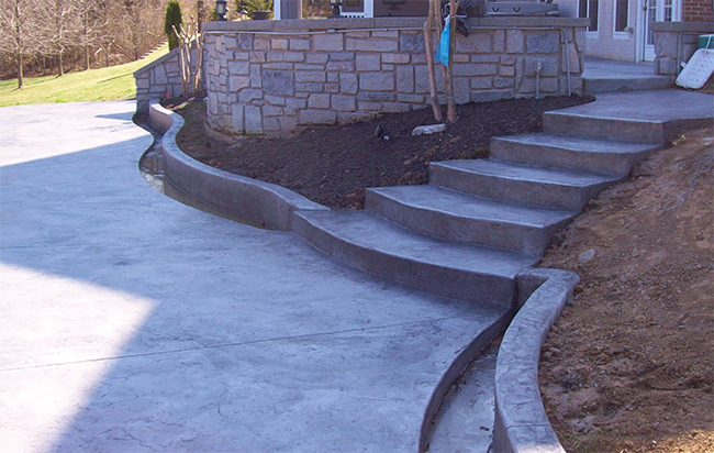 Arden Stamped Concrete Deck