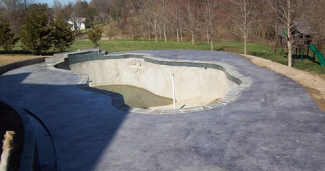 New Pool Deck After