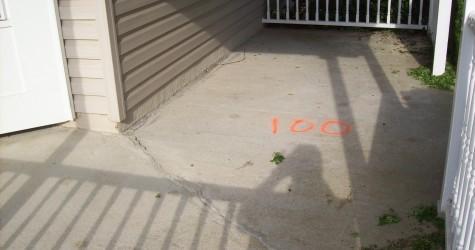 Elliott City Front Porch Stamped Concrete
