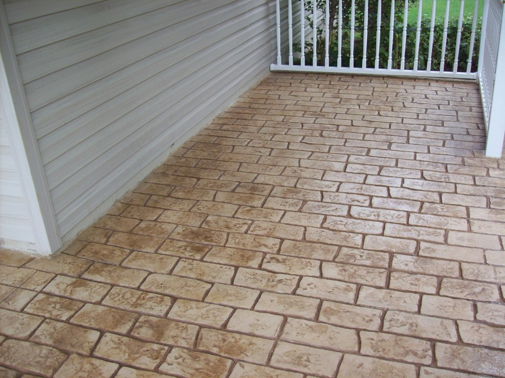 Elliott City Front Porch Stamped Concrete AFTER