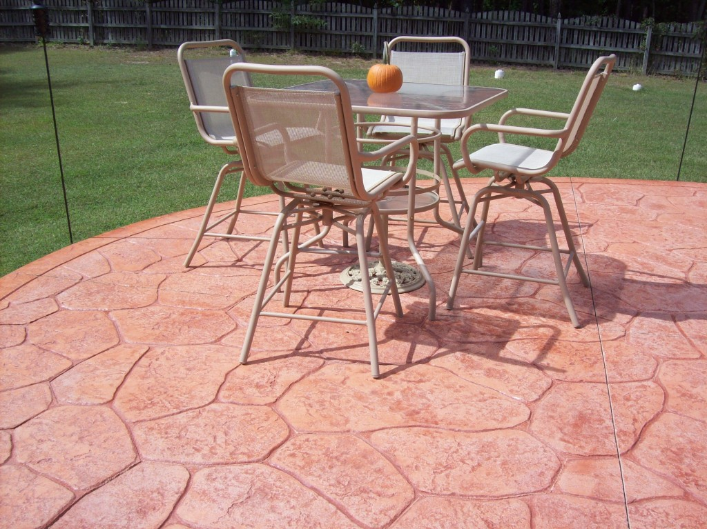 Pasadena Stamped Concrete Patio table