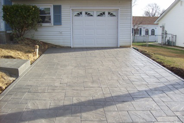 Stamped Concrete Project in Gambrills- Driveway AFTER