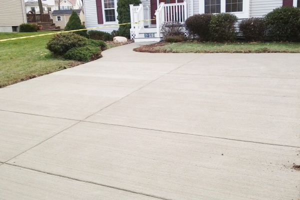 Pasadena Concrete Driveway Finished
