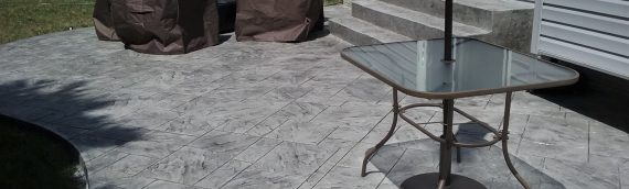 Custom Stamped Concrete Patio