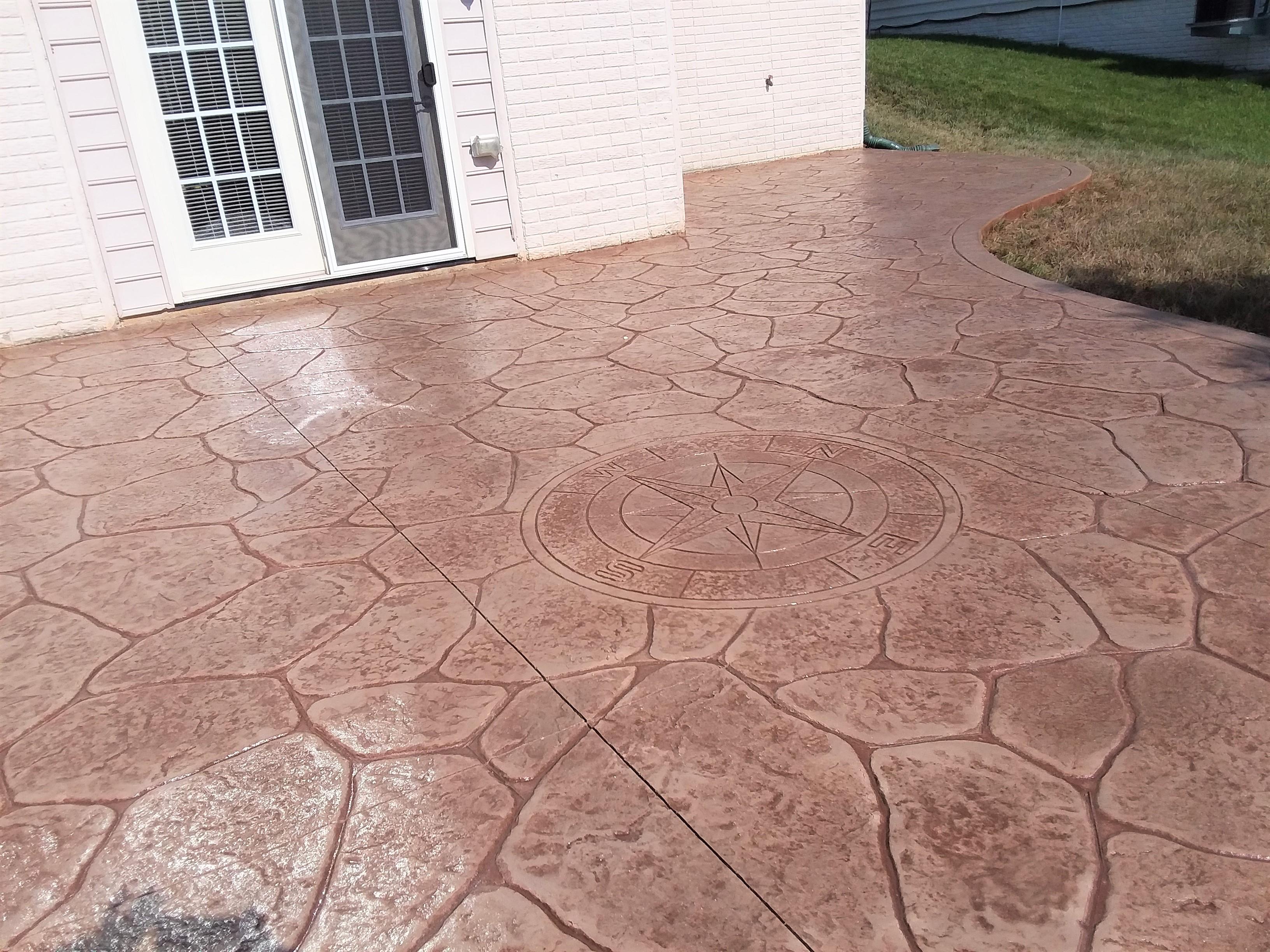 brown compass tile
