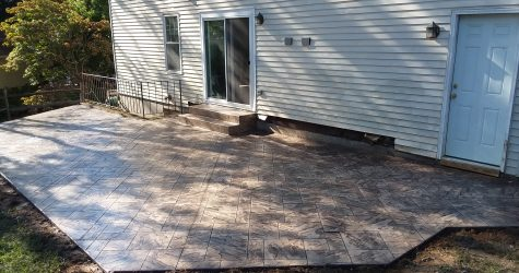 concrete deck after