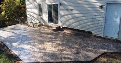 concrete deck after