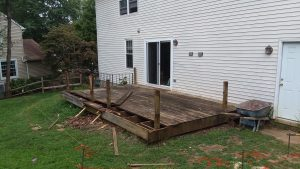 concrete deck before