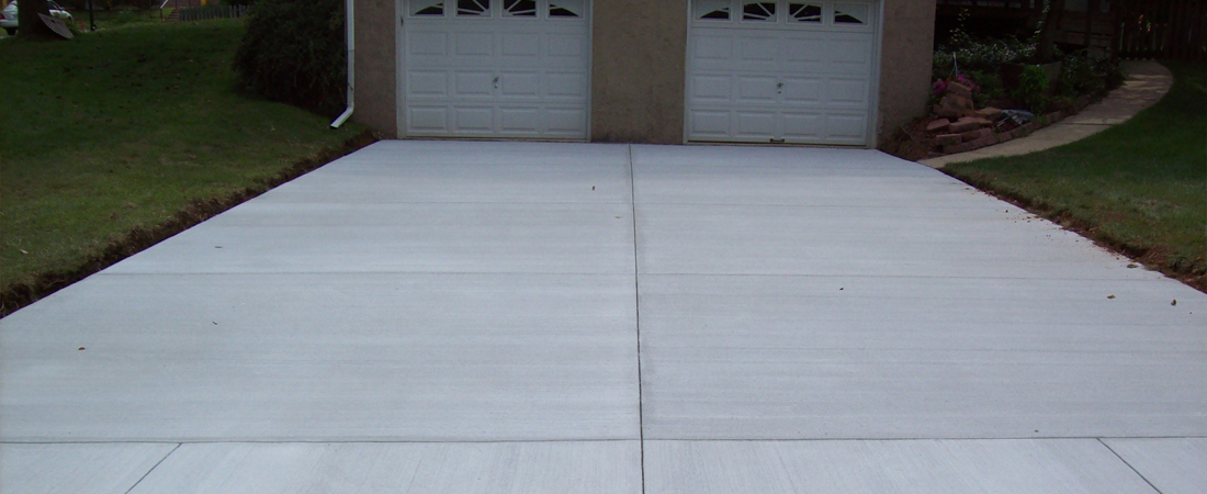 Maryland Curbscape Traditional and Standard Concrete Driveway
