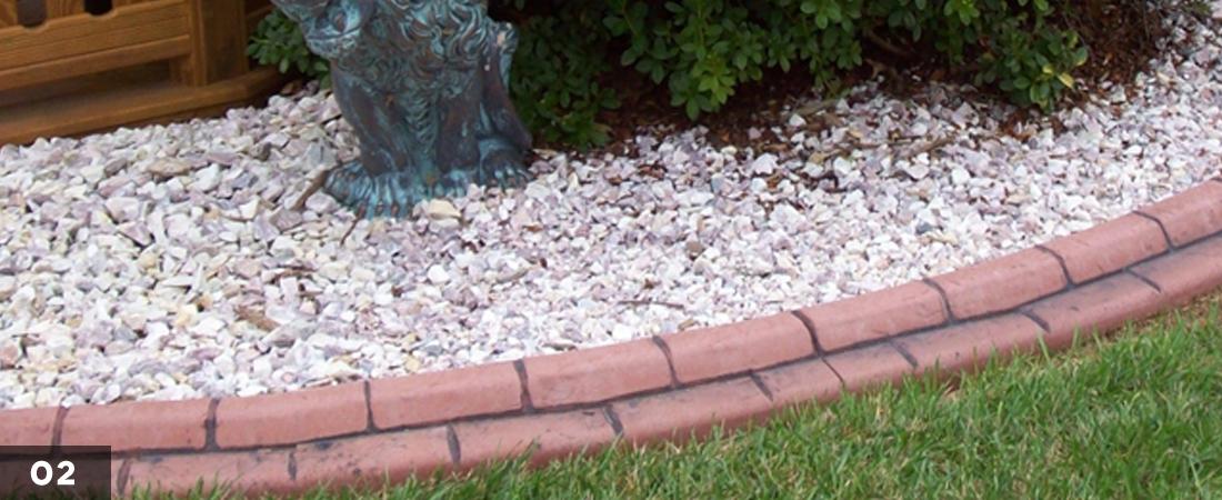 Decorative Landscape Border Seashell Garden