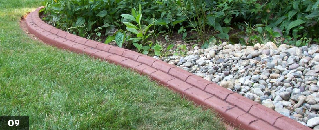 Decorative Landscape Border Rock Garden