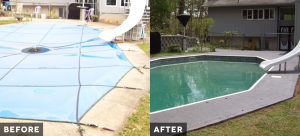 Before and after_Non-slip poolside