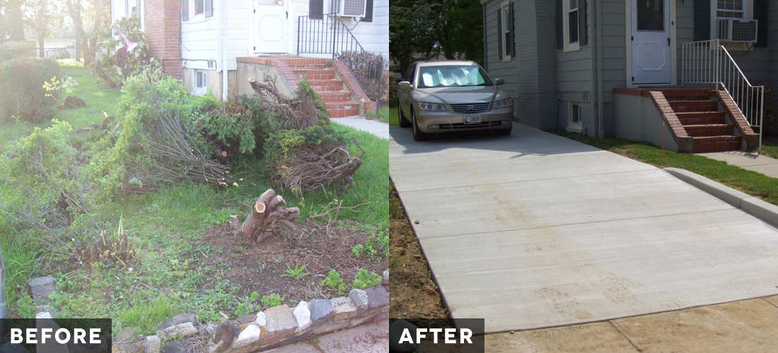 Brooklyn Park Driveway before and after