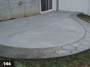 Stamped Concrete backyard slab-146