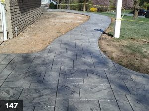 Stamped Concrete front walkway-147