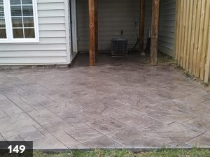 Stamped Concrete back porch slab-149