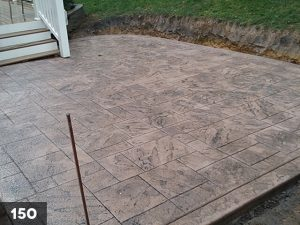 Stamped Concrete back porch slab-150