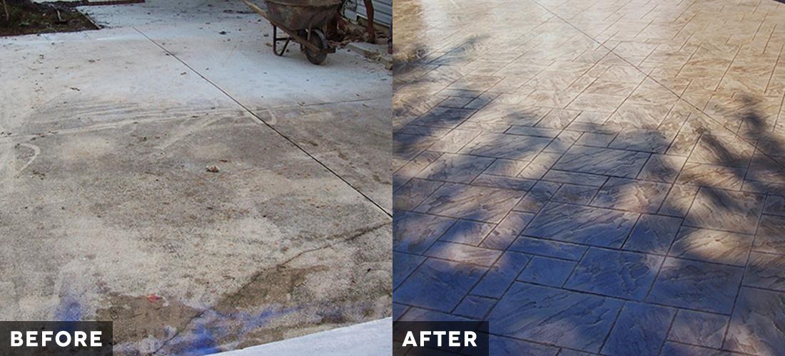 pasadena backyard patio before and after