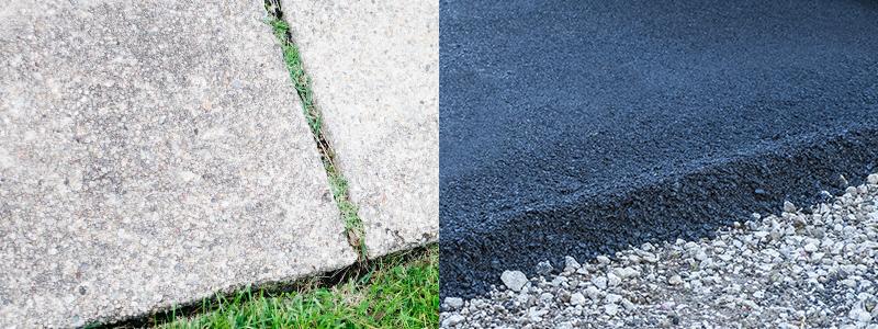 Image result for Concrete vs. Asphalt Sidewalks